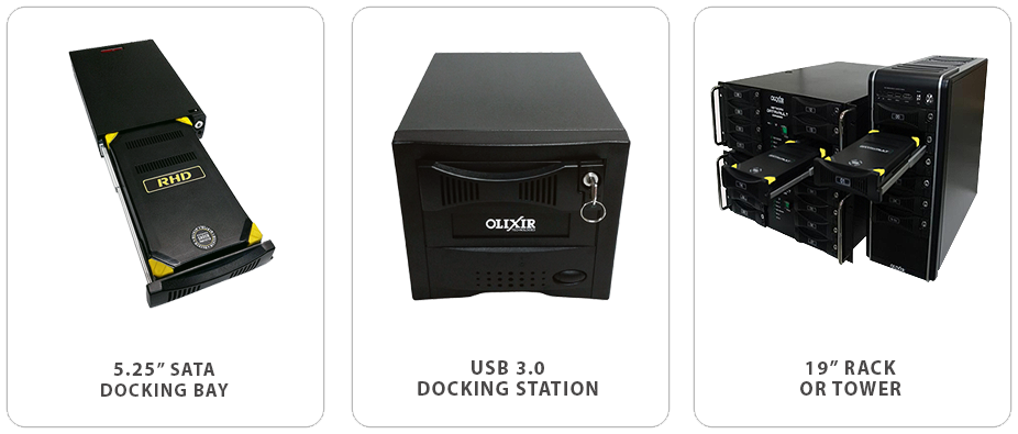 Olixir Removable Drives Connectivity Options