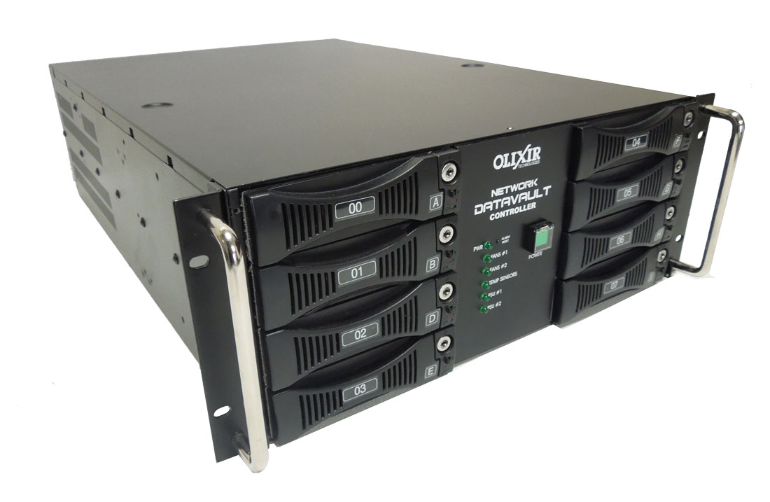 Olixir Suggested Products for Backup Data Solutions using removable Hard Drives Rack
