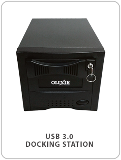Olixir Yellow Drive Connectivity Options Docking Station