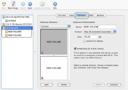 Olixir FAQ - How to format your DataVault for Mac OS X? Figure 4