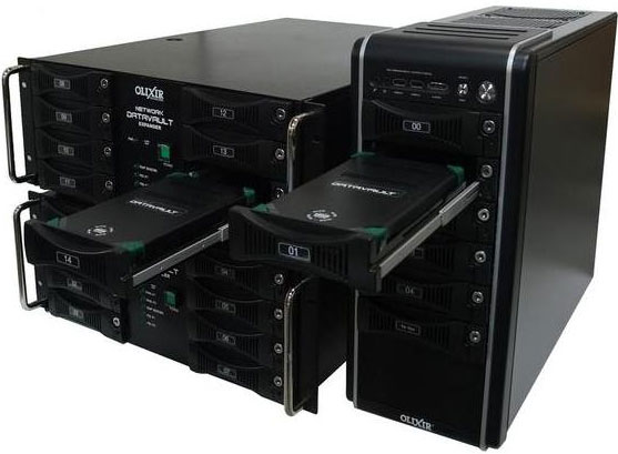 Olixir 19'H Racks and Towers for use with Rugged Removable Hard Drives